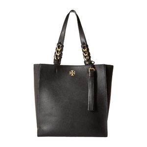 NWT Tory Burch Brooke Pebbled Leather Tote Bag